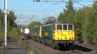 Great Freight variety at Coatbridge Central on 29 Sept 2015 - Part 1