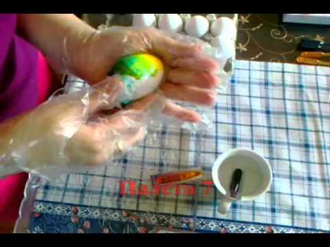 Farbanje jajca - Zelatinova boja - Paleta 7.wmv