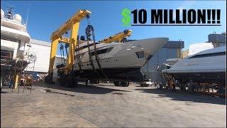 $10 MILLION LUXURY YACHT LAUNCH (Captain's Vlog 61)