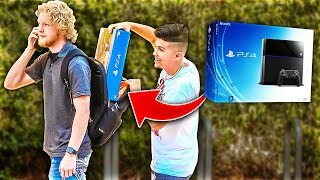Sneaking PS4's In Backpacks For Christmas