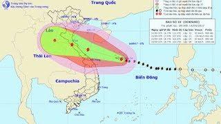 Tin Bão Mới Nhất : Tin bão khẩn cấp - cơn bão số 10 Với Sức Gió Cấp 13 Từ Biển Nghệ An Đến Quảng Trị