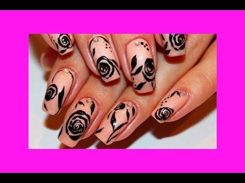Накрасить ногти гель лаком с рисунком