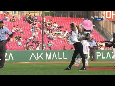 South Korean Rhythmic Gymnast Shin Soo-ji's First Pitch video