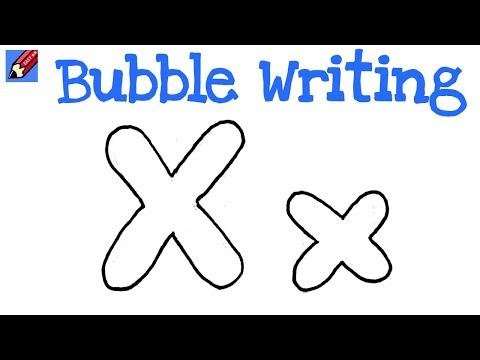 X bubble letter