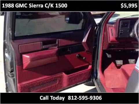 1988 GMC Sierra C/K 1500 Used Cars Scottsburg IN