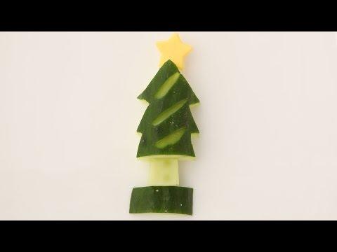 きゅうりのクリスマスツリーの作り方 How To Make Christmas Tree【簡単かわいいキャラ弁レシピ】