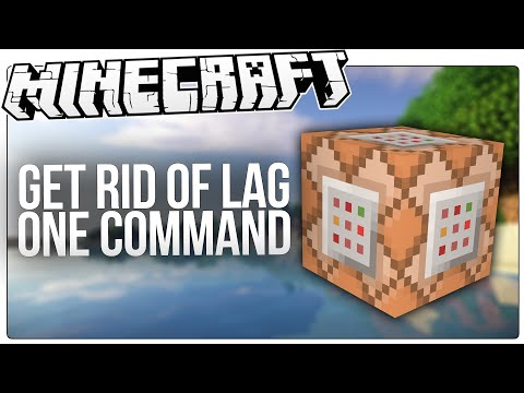 Reduce / Get Rid Of Lag In Minecraft With This Simple Minecraft Command!