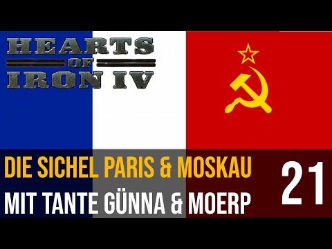 Hearts of Iron IV | 21 | Die Soviet Sichel Paris & Moskau mit Tante Günna & Moerp | deutsch
