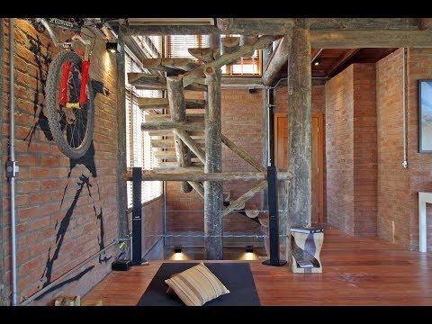 Construção de casas de madeira rusticas