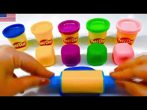 Learn Colors with Play Doh Lollipop and Cookie Molds Surprise Toys Kinder Eggs#7