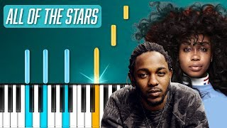 """Download Lagu Kendrick Lamar, SZA - """"All The Stars"""" Piano Tutorial - Chords - How To Play - Cover Gratis STAFABAND"""