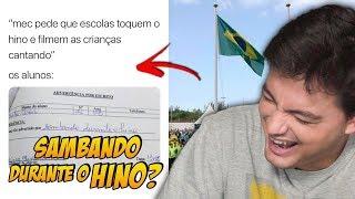 RESPOSTAS DE PROVAS MAIS ENGRAÇADAS - HINO NACIONAL