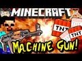 Minecraft TNT MACHINE GUN! Redstone Build!