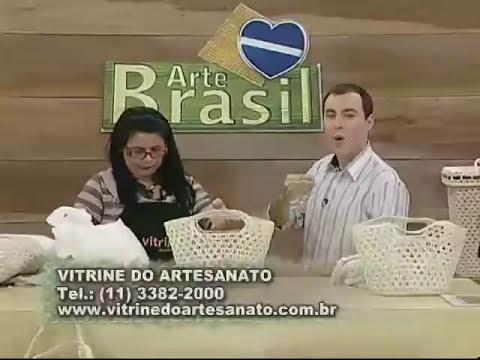ARTE BRASIL - CARMEM FREIRE - SACOLA DE CROCHÊ ENDURECIDO (26/07/2011)