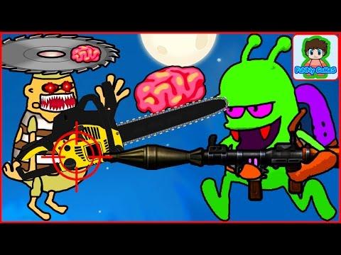zombie catchers Ловцы зомби игра как мультик для детей от фаника 19