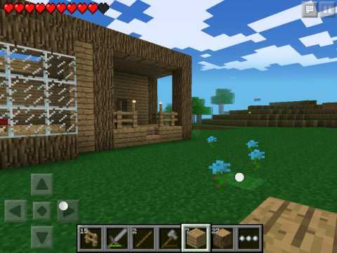 Let's play Minecraft Pocket Edition #5 - Строим дом #3