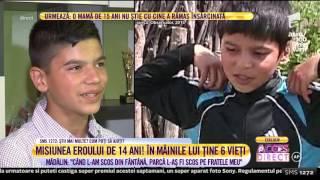 Eroul de 14 ani povesteşte cum a salvat un copil de doi ani!