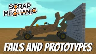 Scrap Mechanic Gameplay - EP 37 - Fails and Prototypes