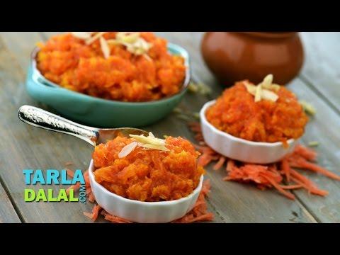 Gajar Halwa (Quick Carrot Halwa)/ Carrot dessert/ indian carrot sweet dessert recipe by Tarla Dalal