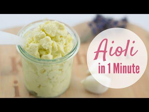 Mayonnaise & Aioli Rezept! Veganes Aioli selber machen - einfachKochen vegan