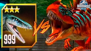 LEVEL 999 MOSASAURUS VS METRIACANTHOSAURUS!! - Jurassic World The Game HD