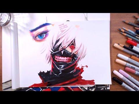 Tokyo Ghoul : Ken Kaneki - speed drawing | drawholic