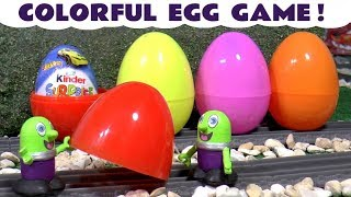 Learn Colors with surprise eggs game, funny Funlings Wizard magic and Thomas The Tank Engine TT4U