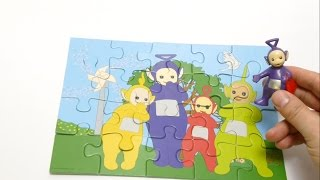 Teletubbies play with Puzzle