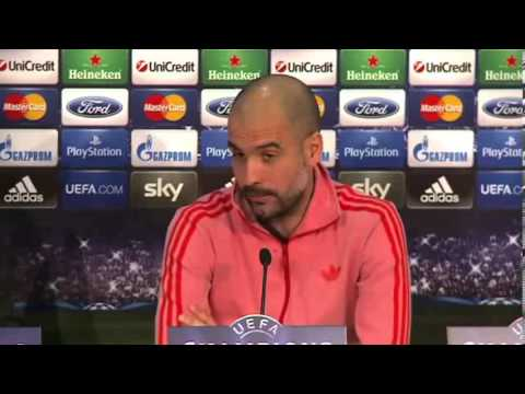 Pep Guardiola Interview Before Bayern Munich - Arsenal Second Leg Champions League