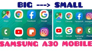 How to do big to small app icon.in Samsung A50