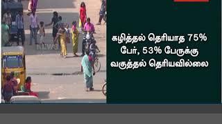 நாட்டின் தலைநகர் பெயர் தெரியாத 30% தமிழக மாணவர்கள்