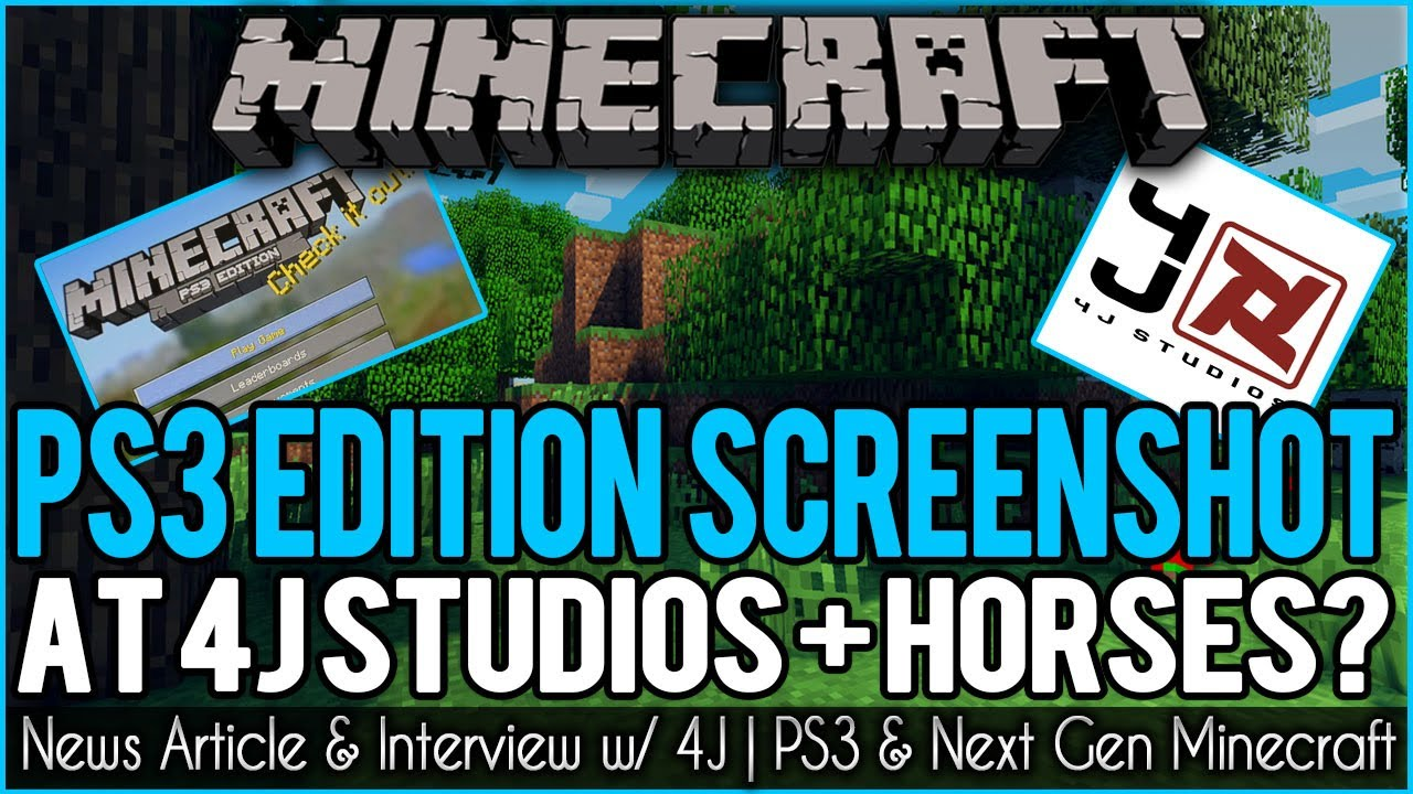 Minecraft PS3 Edition Screenshot | News From Inside 4J ...