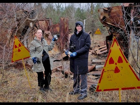 HAZMAT radioactive pieces from inside Chernobyl reactor 4!