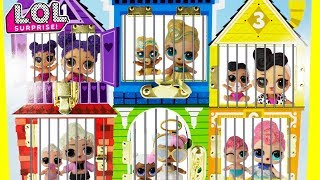 LOL Surprise Big Sisters + LOL Little Sisters Jail Rescue TOY SURPRISES