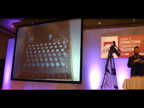Live Demonstration of an Enigma Cipher Machine by Simon Singh
