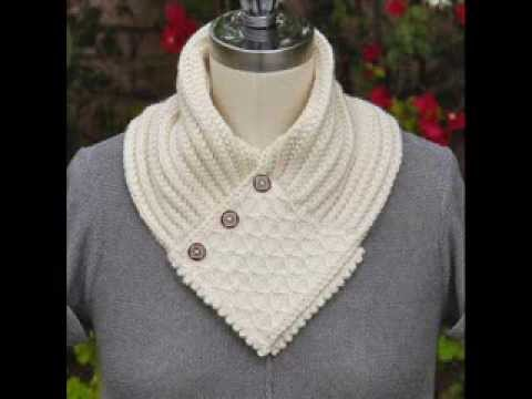 Quilted Lattice Ascot - Neck Warmer Knitting Pattern Presentation - YouTube