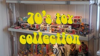 70s Toy collection. Action Man, Timpo toys, Britains motorcycles, Lone Ranger, Action Jackson