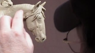 Sculpting With Lemon - Down the Ridge Line - First of the Horses Mane Started