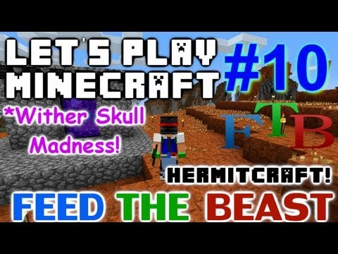 Let's Play Minecraft Hermitcraft FTB Ep. 10 - Wither Skull Madness!