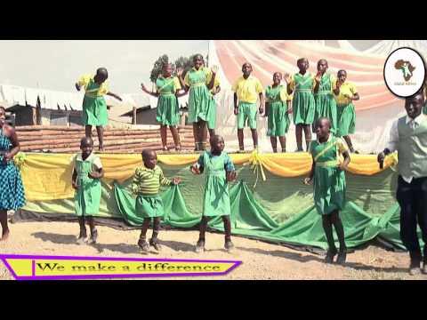 CHILD AFRICA CHILDREN PERFORMING THE BETTER GLOBE SONG IN KABALE   UGANDA