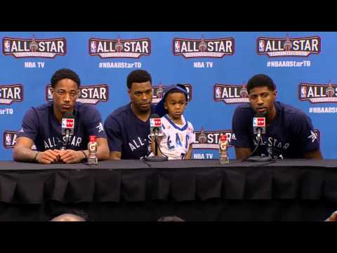 NBA All-Star Sunday Post Game Podium: Demar Derozan, Kyle Lowry and Paul George  - February 14, 2016