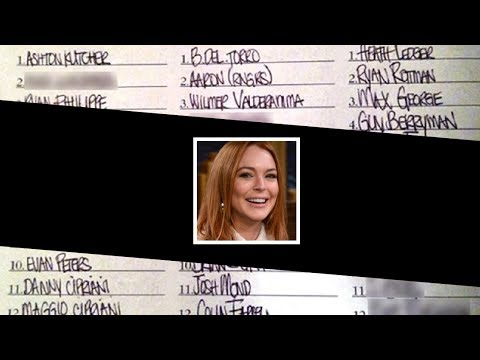 Lindsay Lohan's F*ck List - How Many Do You Recognize?