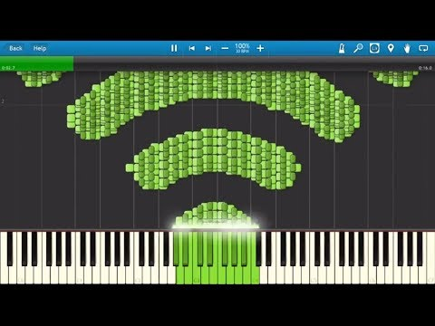 WI-FI Synthesia MIDI Art