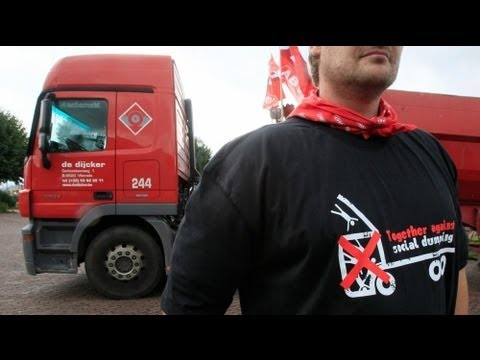 Truckers demand action from EU on cheap labour