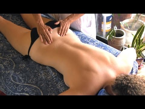Back Massage Therapy How To For Sciatica Pain Relief Treatment, Cranio-sacral Techniques video