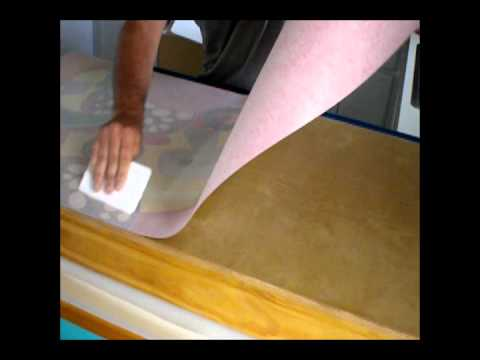 How to install Cornhole wrap using a small squeegee
