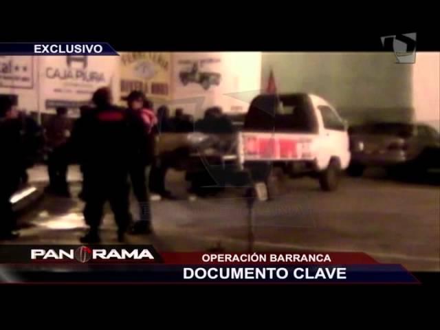 Operación Barranca: documento clave en la incautación anunciada por Urresti