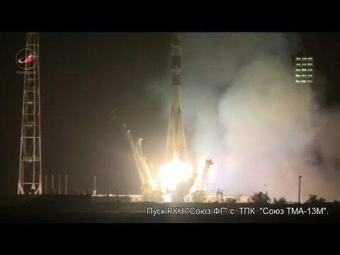 Russian-Western crew blasts off for ISS onboard Soyuz rocket
