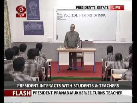 President Shri Pranab Mukherjee taking the class!