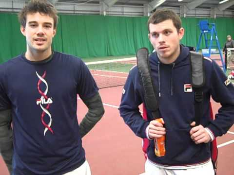 British tennis players Josh Goodall & Chris Eaton speak after winning the AEGON GB Pro-Series doubles title in Sheffield.